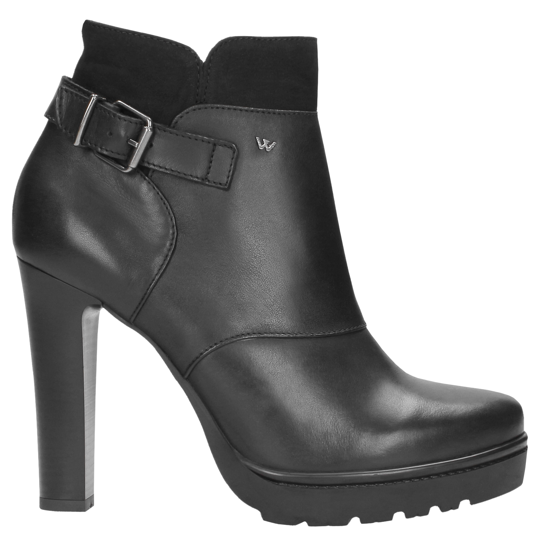 e4d8b7ec84277 Czarne botki damskie 8591-71   Sklep online Wojas.pl