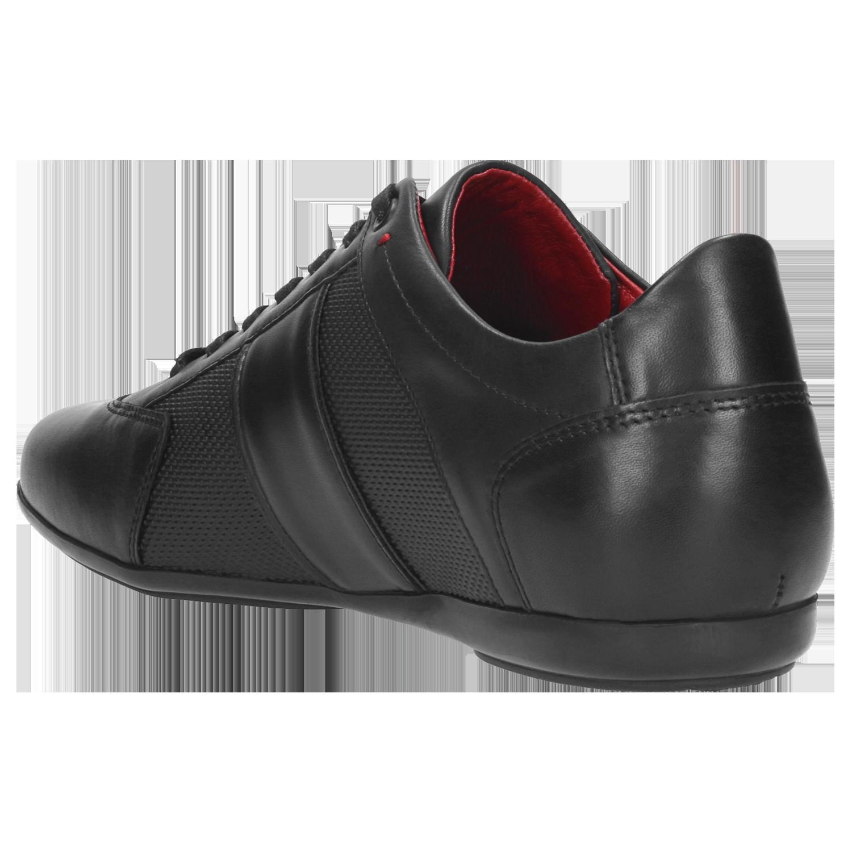 Sneakersy WOJAS 9013 51 Czarny Czarne buty sportowe na