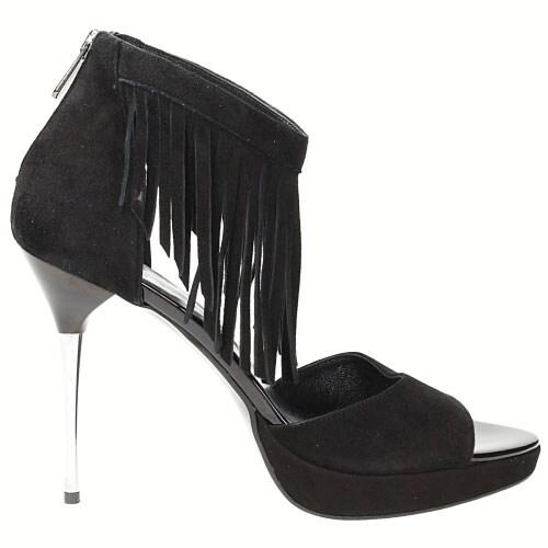 Czarne damskie sandały 6772-61