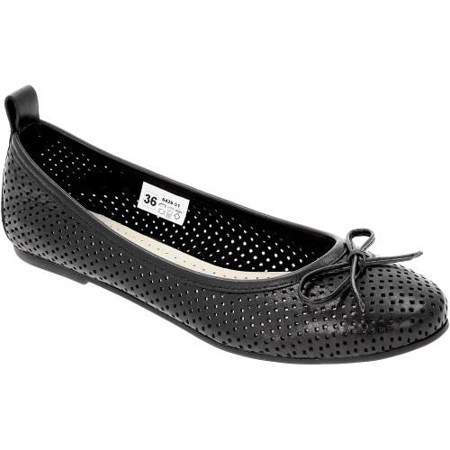 Czarne damskie Baleriny 6428-51