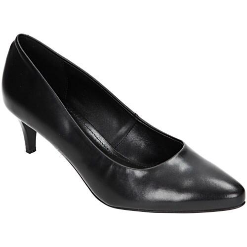 Czarne damskie czółenka 6379-51