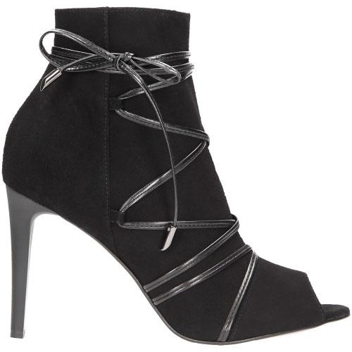 Czarne damskie botki 7550-61