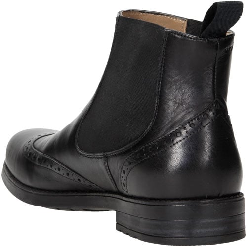 Czarne wsuwane botki męskie z wszytymi gumami 6152-51