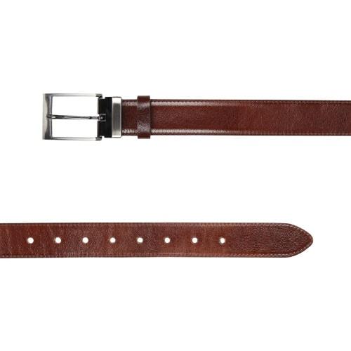 Skórzany brązowy pasek męski 7980-52