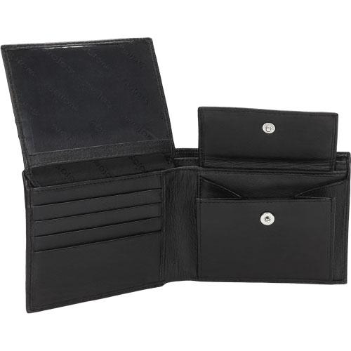 Klasyczny czarny portfel męski 7937-51