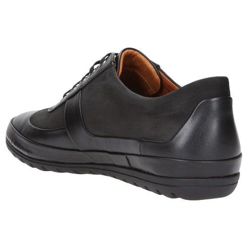 Czarne półbuty męskie na podeszwie overflex 8028-71