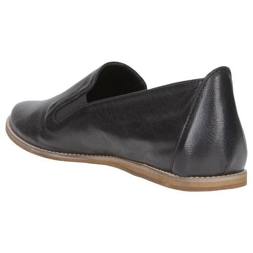 Komfortowe czarne półbuty damskie na płaskiej podeszwie 46024-51
