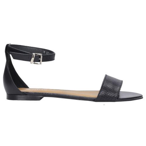 Klasyczne czarne sandały damskie z zakrytą piętą 8785-51