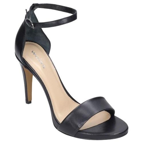 Klasyczne czarne sandały damskie na szpilce 8831-51