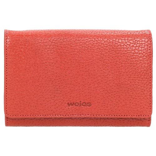 Czerwony portfel damskie z wieloma przegródkami 8940-55
