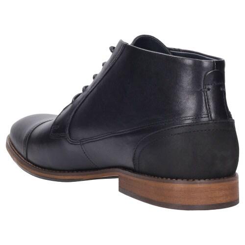 Czarne eleganckie trzewiki męskie 8208-51
