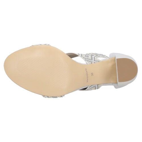 Popielate Sandały Damskie Z Ozdobnymi Wzorkami na Gumowych Paskach 8800-80