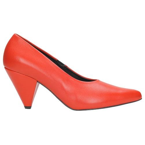 Czerwone czółenka damskie 8398-55