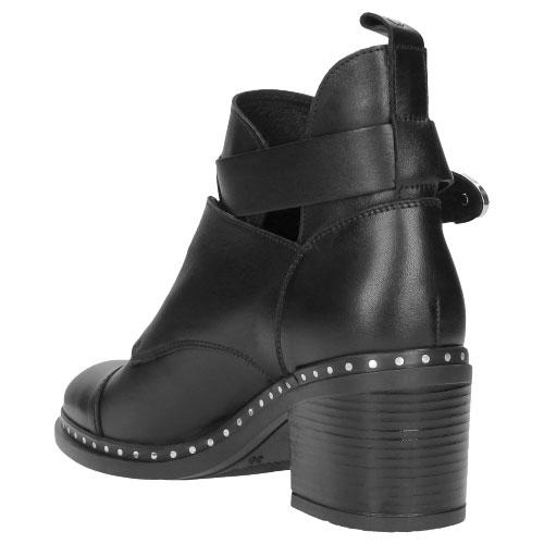 Czarne botki damskie 8576-51