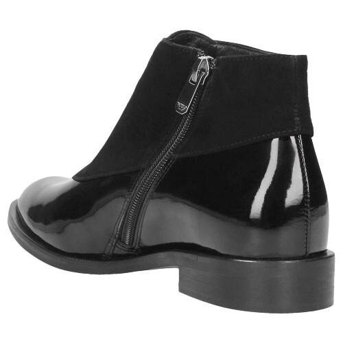 Czarne botki damskie 8614-71
