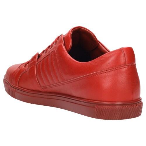 Czerwone półbuty męskie 8096-55