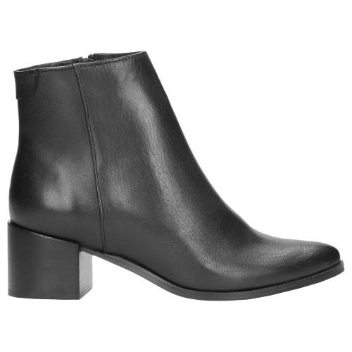 Czarne botki damskie 8632-51