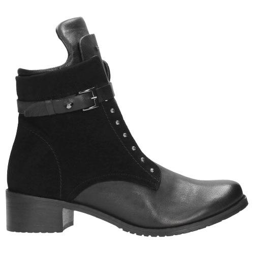 Czarne botki damskie 8639-71