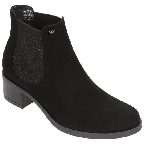 Czarne botki damskie 8616-61