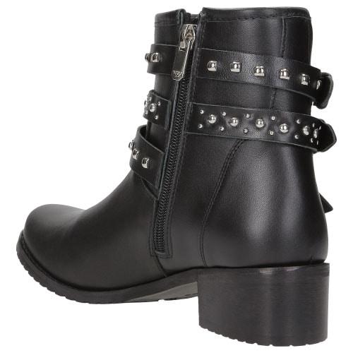 Czarne botki damskie 8583-51