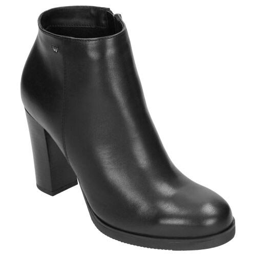 Czarne botki damskie 6597-51