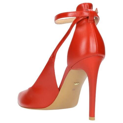 Czerwone czółenka damskie 8356-55