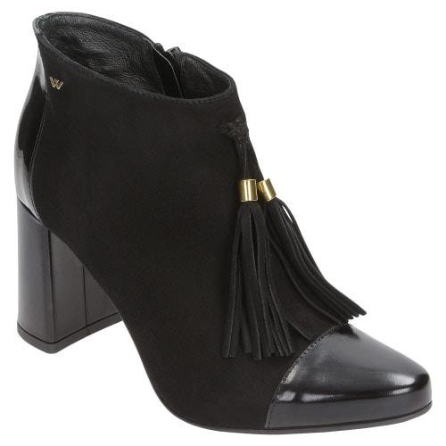 Czarne damskie botki 8598-71