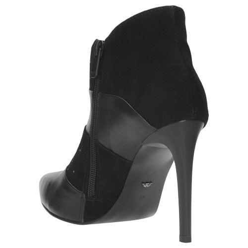 Czarne botki damskie 9552-71