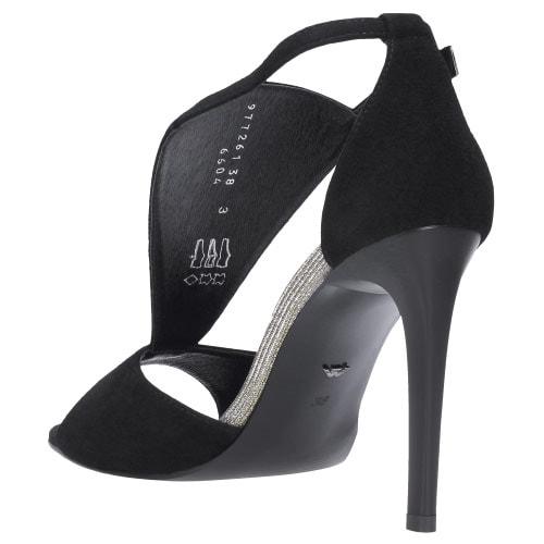 Czarne sandały damskie 9772-61