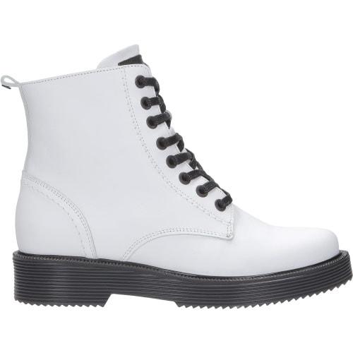 Białe trzewiki damskie 8678-59