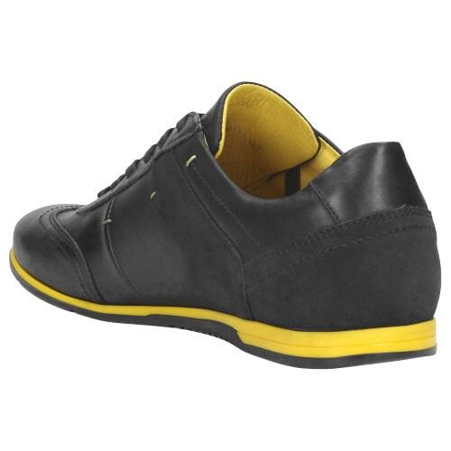 Sportowe  czarne półbuty męskie 9018-71