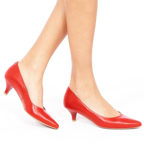 Czerwone czółenka damskie 9353-55
