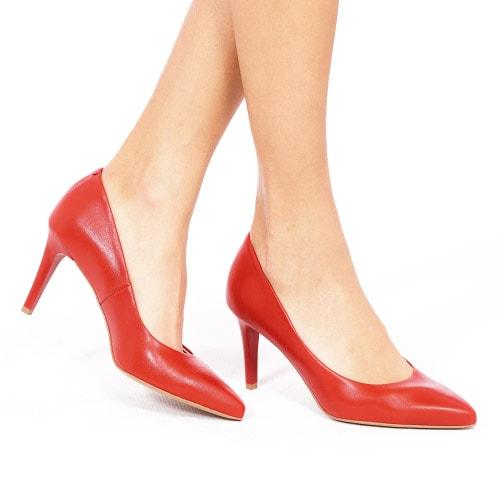 Czerwone czółenka damskie 9359-55