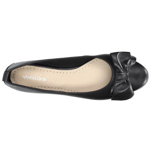 Czarne baleriny damskie 44007-51