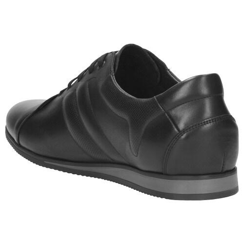 Sportowe  czarne półbuty męskie 9045-51