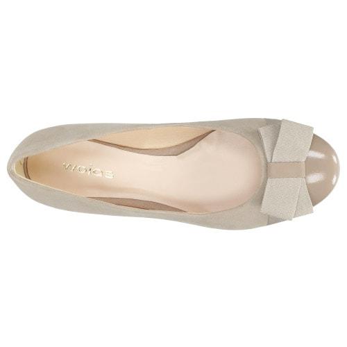 Beżowe baleriny damskie 7430-74