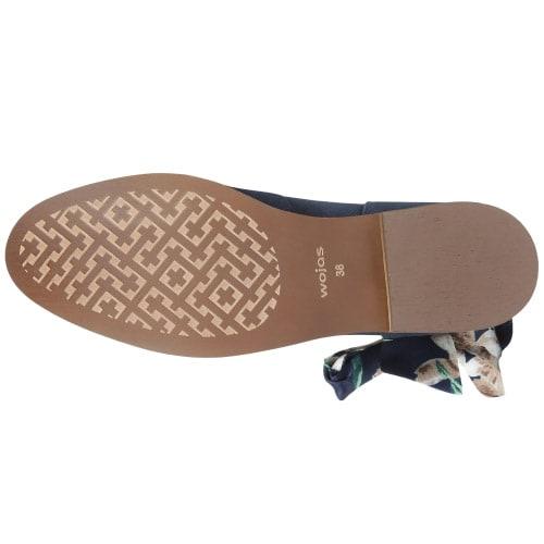 Granatowe damskie botki 9501-66