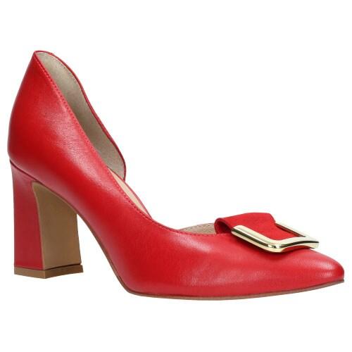 Czerwone czółenka damskie 9264-75