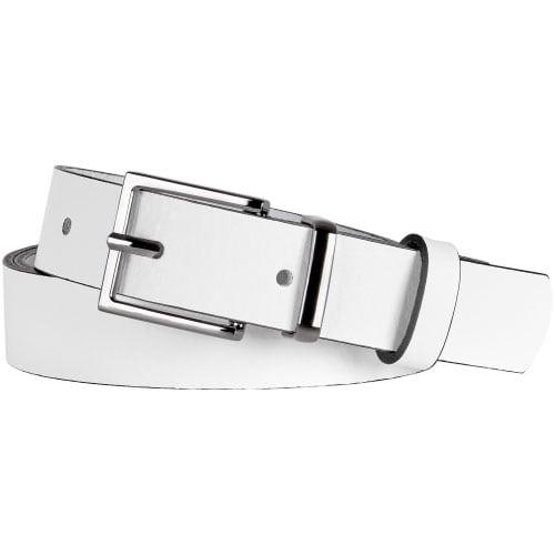 Biały pasek damski 9961-59