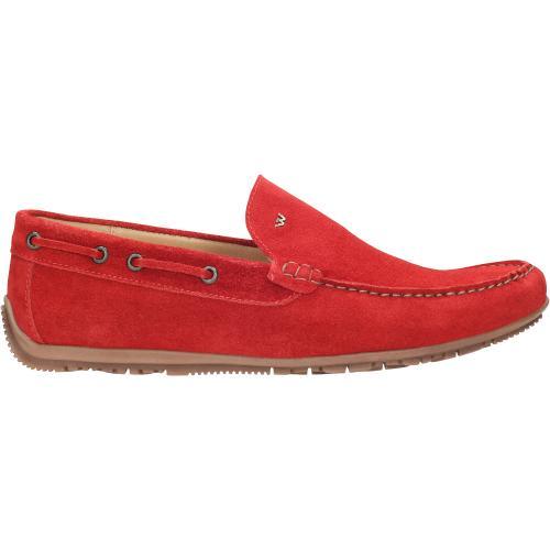 czerwone półbuty męskie 9043-65
