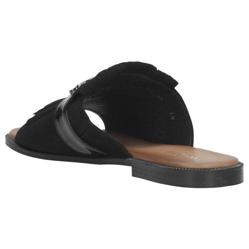 Czarne klapki damskie 9703-71