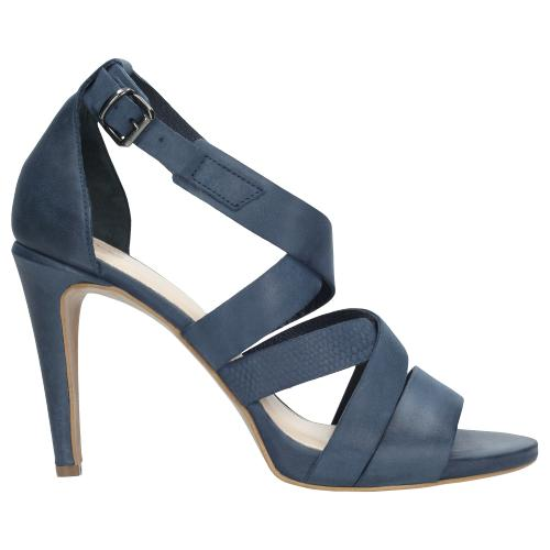 Granatowe sandały damskie 5804-56