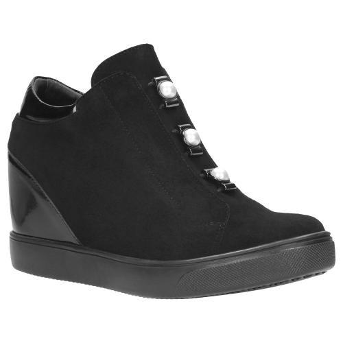 Czarne damskie sneakersy 8549-71