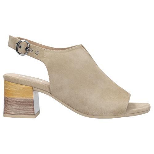 Beżowe sandały damskie 9745-64