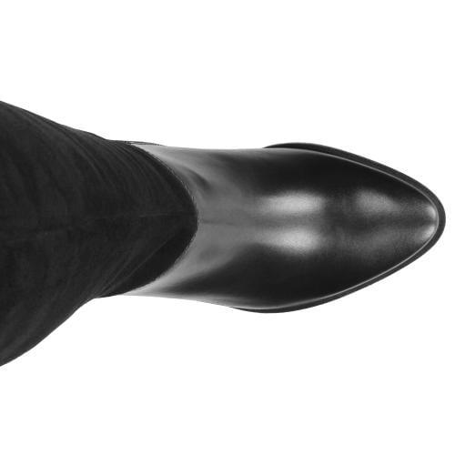 Czarne kozaki damskie 8735-71