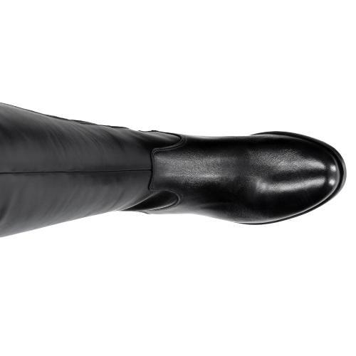 Czarne damskie kozaki 6729-51