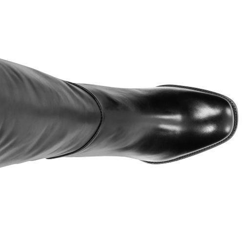 Czarne damskie kozaki 6716-51