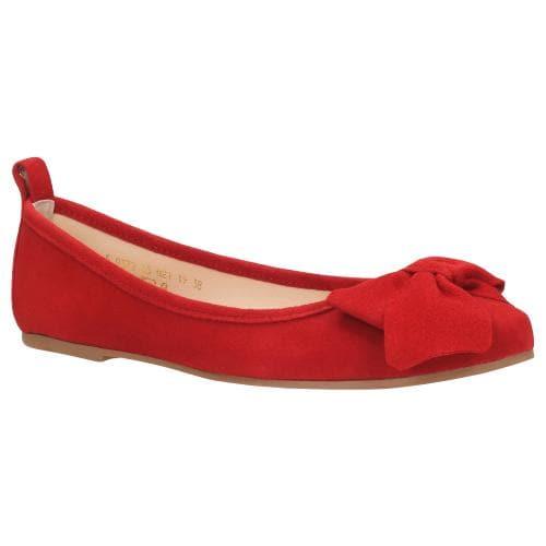 Czerwone baleriny damskie 9372-65
