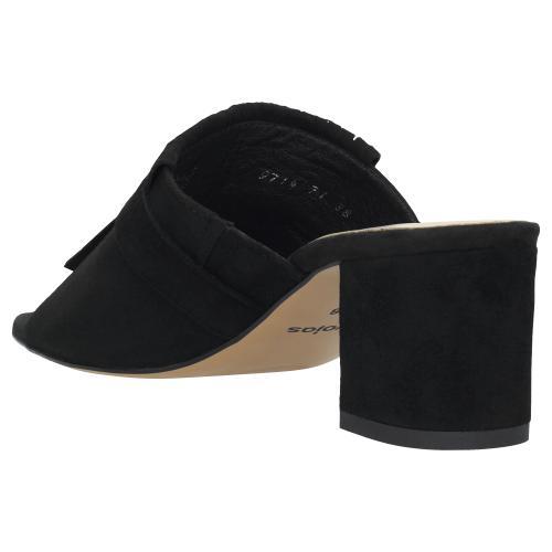 Czarne klapki damskie 9714-61