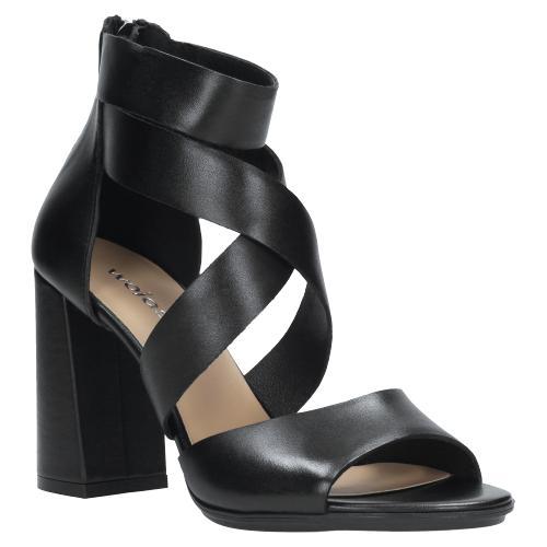 Czarne sandały damskie 9734-51